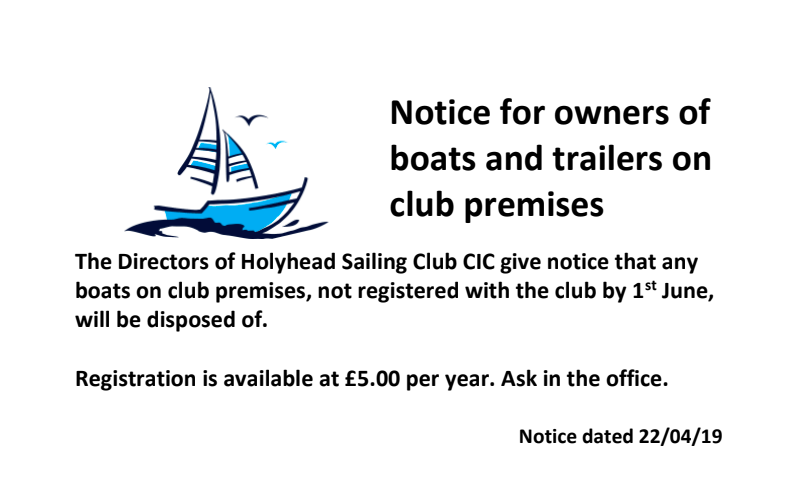 dinghy park notice